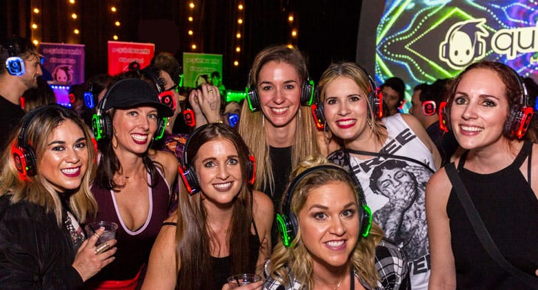 Celebrate silent disco party with your friends