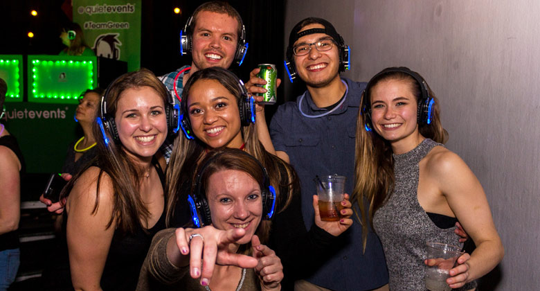 DC silent disco while enjoying the beer