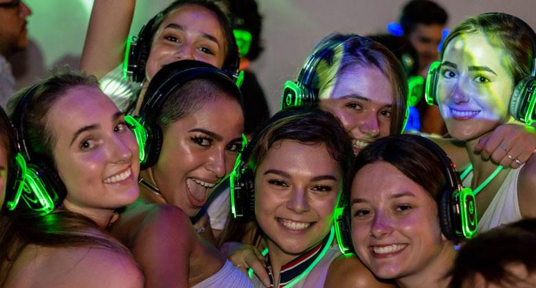 Belmont silent disco party