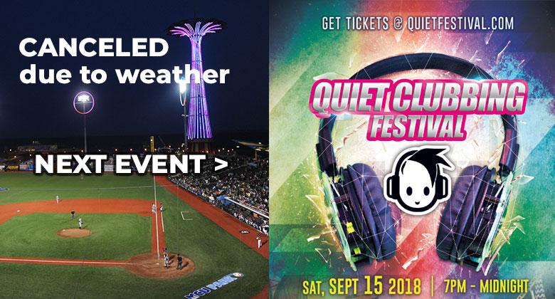 Quiet Clubbing Festival event flyer