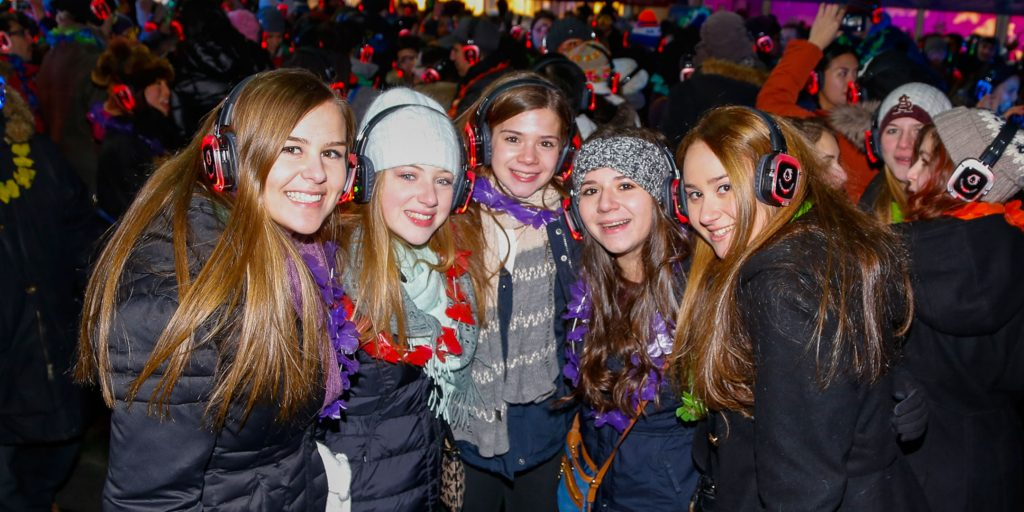 Winterfestival silent disco party
