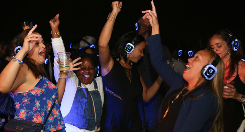 Party like teenager with headphones
