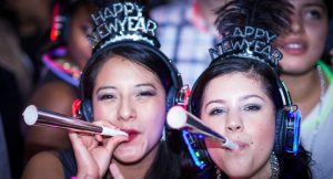 New years silenbt disco events