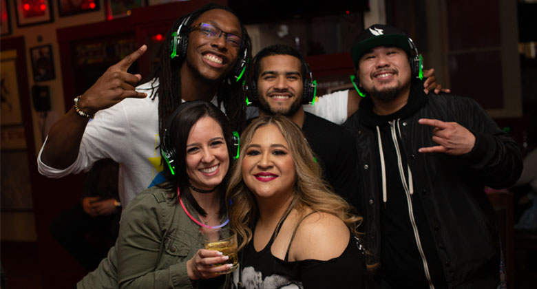 Silent disco party at Pier