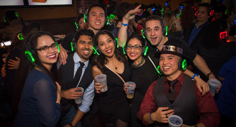 Hudson station silent disco party