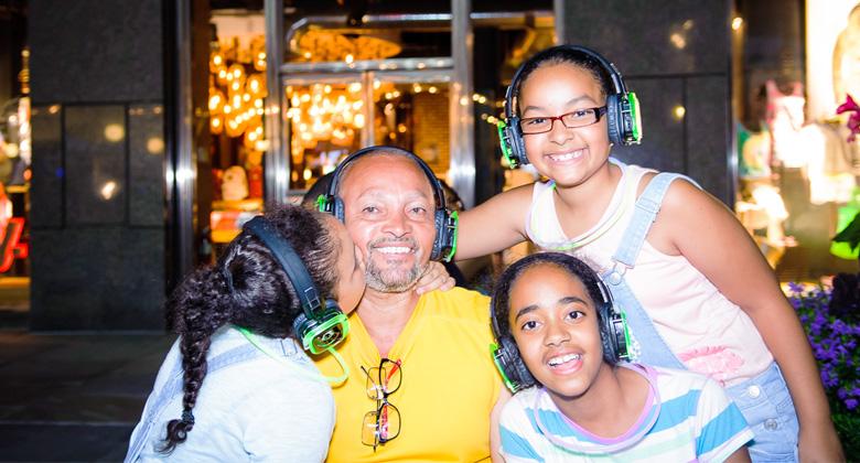 Family with Headphones