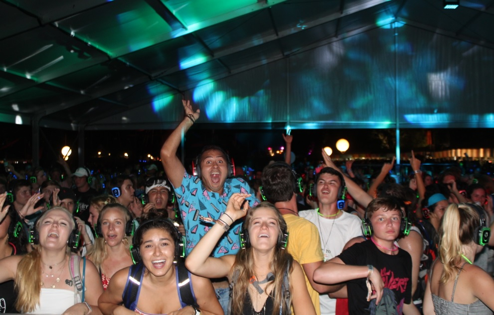 The best silent disco party