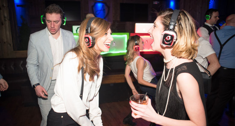 Ainsworth party with headphones