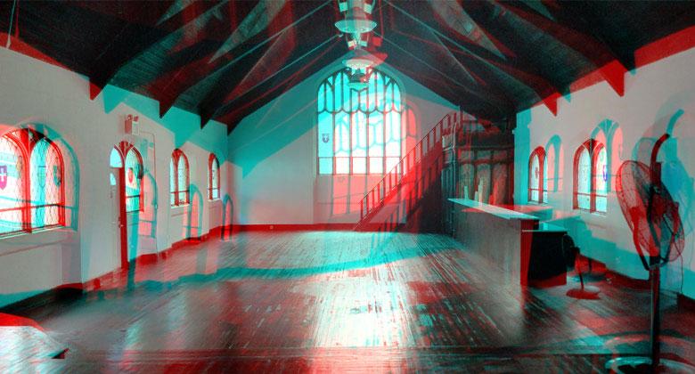 Sanctuary in glitch effect