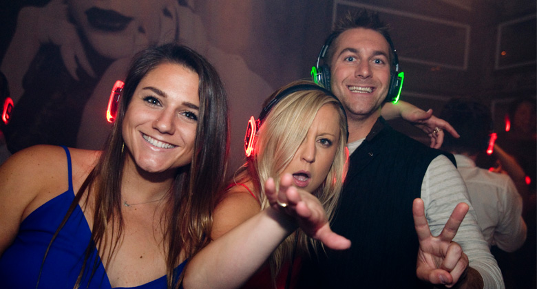Bring your friends in silent disco event
