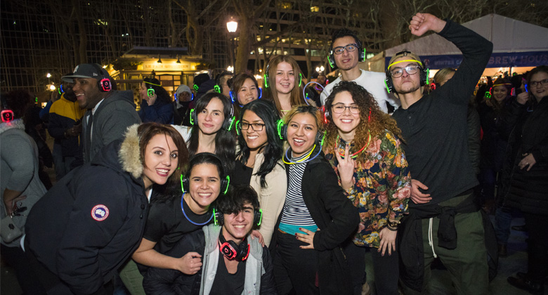 Group picture with headphones