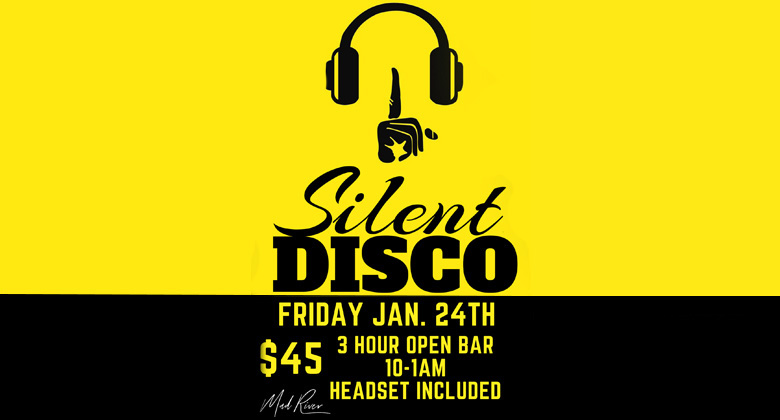 Silent Disco event flyer